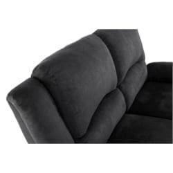 9121 - Canapé de relaxation 2 places en microfibre