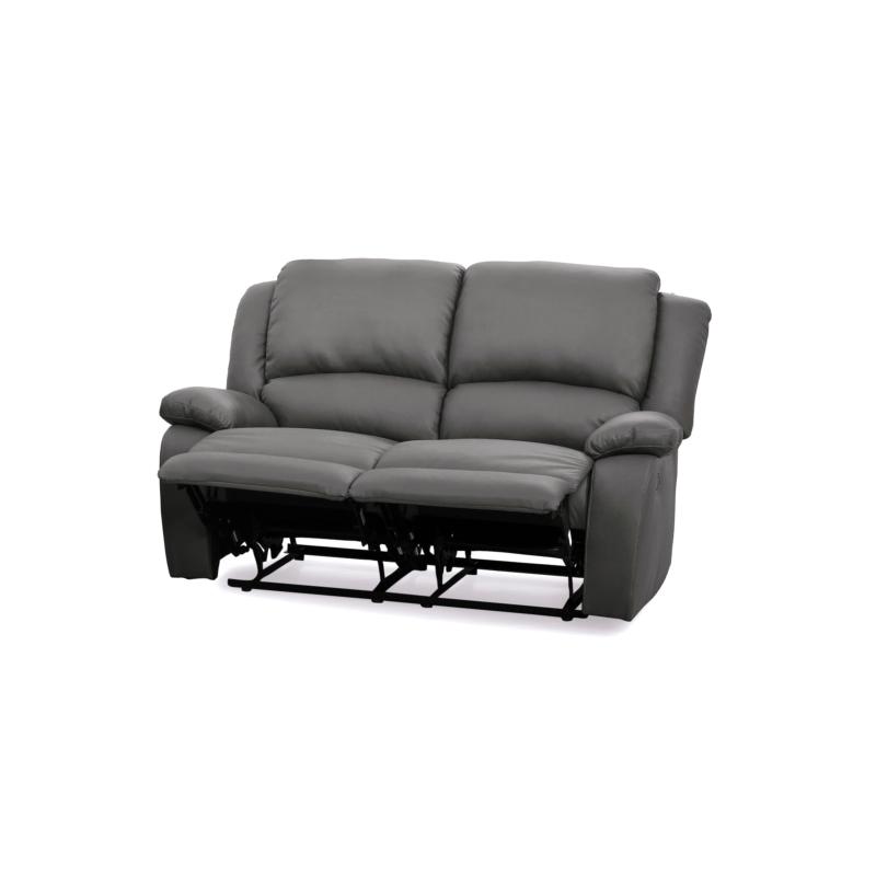9121 - Canapé de relaxation manuel 2 places en simili