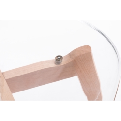 A80511 - Lots de 2 chaises scandinaves en polypropylène transparent